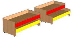 Кровать двухъярусная выкатная 1430х650х580