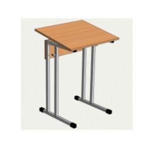 Стол ученический одноместный нерегулируемый 2,3,4,5,6 гр.роста с углом наклона столешницы 0-10°