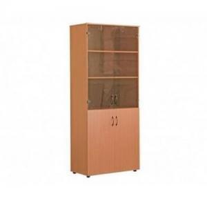 Шкаф для кабинета широкий со стеклом