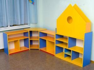 Стеллаж детский для игрушек