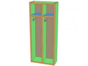 Шкаф для полотенец 2 секции, навесной