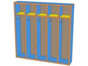 Шкаф для полотенец 5 секций, навесной