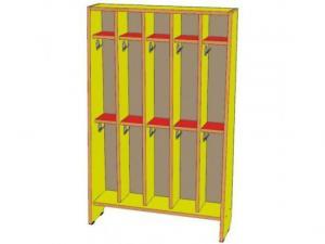 Шкаф для полотенец 5 секций, двухъярусный