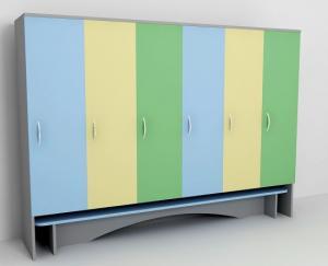 Шкаф для одежды шестисекционный