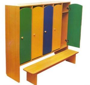 Шкаф для одежды пятисекционный с закругленными фасадами