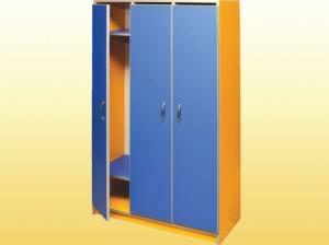 Шкаф для одежды трехсекционный, цветной каркас