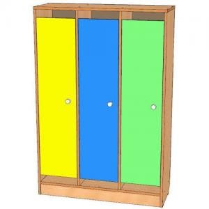 Шкаф для одежды трехсекционный, цоколь