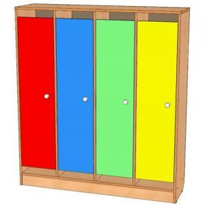 Шкаф для одежды четырехсекционный, цоколь