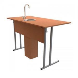 Стол-парта для кабинета химии с сантехникой двухместный