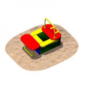 Песочница 1,0 х 1,0м (С КРЫШКОЙ-СТОЛИКОМ)