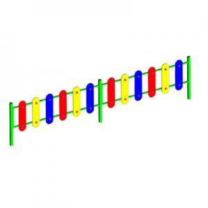 Ограждение игровой зоны h=0.7м (секции заборчика)
