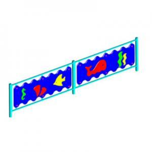 Ограждение игровой зоны «ПОДВОДНЫЙ МИР» (секции заборчика)