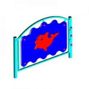 Ограждение игровой зоны «ПОДВОДНЫЙ МИР» (калитка)
