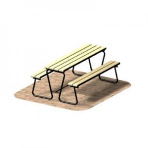 Стол со скамьями (стационарный вариант)