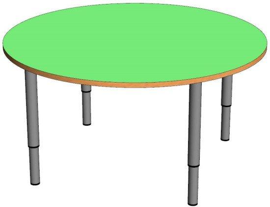 Стол детский круглый (регулируемый по высоте)
