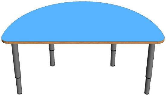Детский стол полукруглый регулируемый