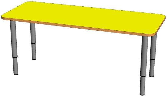 Детский двухместный стол (регулируемый по высоте)