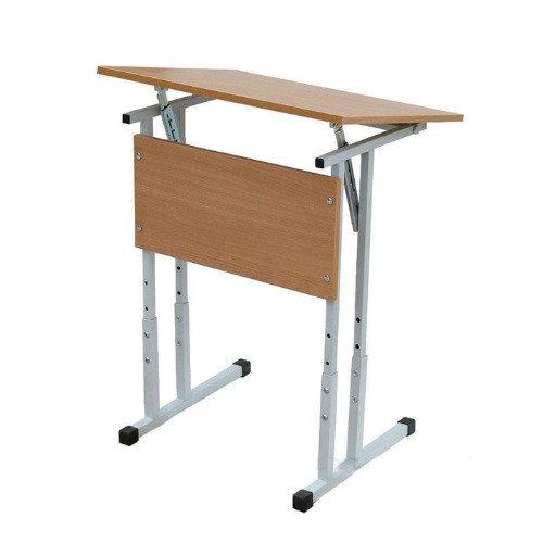 Стол ученический одноместный регулируемый по высоте и углу наклона столешницы 2-4,3-5,4-6 группы роста