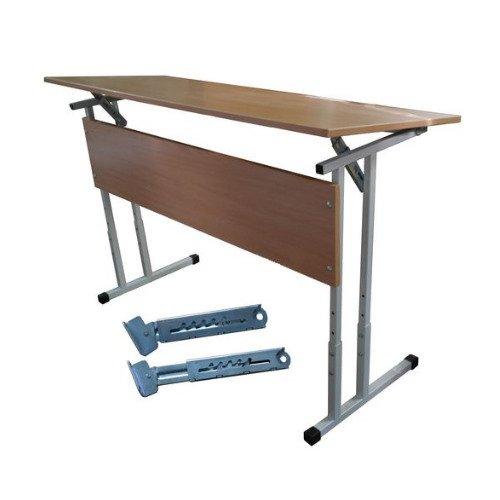 Стол ученический двухместный нерегулируемый 2,3,4,5,6 гр.роста с регулируемым углом наклона столешницы 0-10°