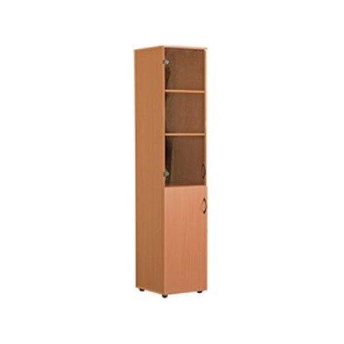 Шкаф для кабинета узкий со стеклом
