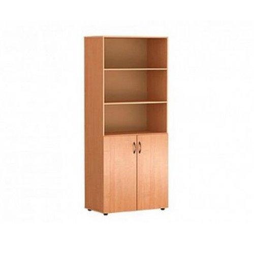 Шкаф для кабинета широкий полузакрытый