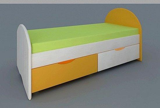 Кровать детская с ящиками 1400х600х700