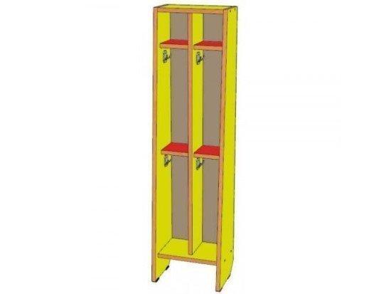Шкаф для полотенец 2 секции, двухъярусный