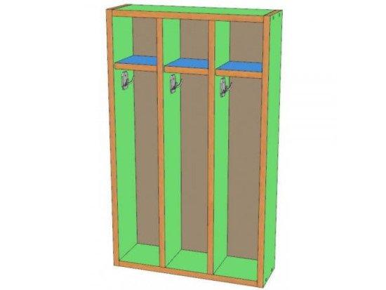 Шкаф для полотенец 3 секции, навесной