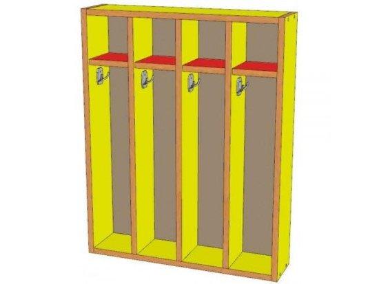 Шкаф для полотенец 4 секции, навесной