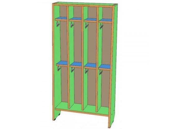 Шкаф для полотенец 4 секции, двухъярусный
