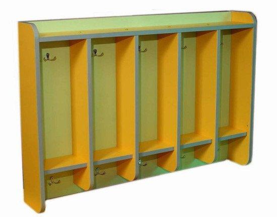 Шкаф для полотенец 5 секций, навесной, закругленные края