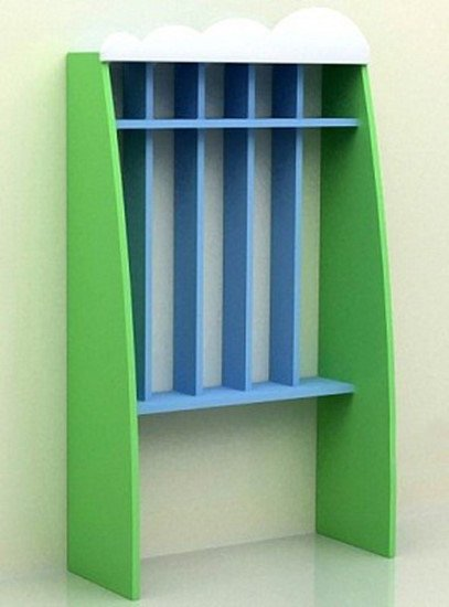 Шкаф для полотенец 5 секций, с нишей прямой