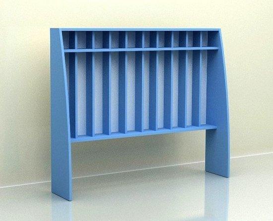 Шкаф для полотенец 10 секций, с нишей прямой