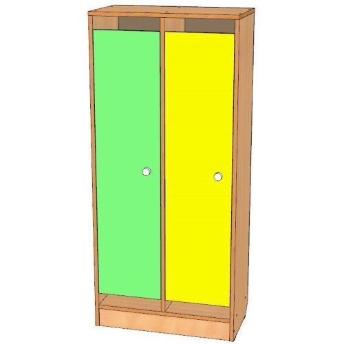 Шкаф для одежды двухсекционный, цоколь
