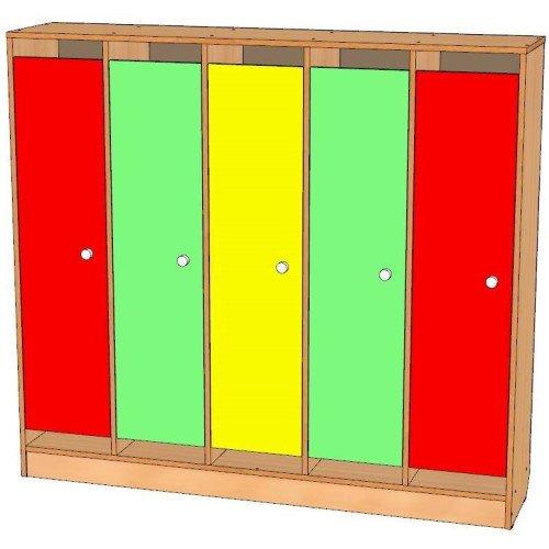 Шкаф для одежды пятисекционный, цоколь