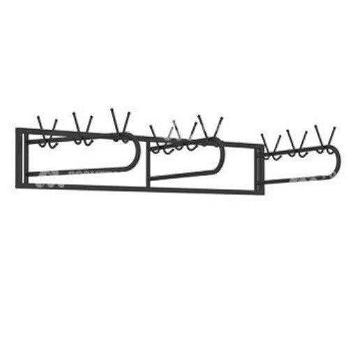 Вешалка настенная 18 крючков, цвет-черный