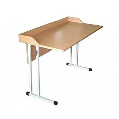 Стол для кабинета физики на металлокаркасе с бортиком (столешница с пластиковым покрытием)