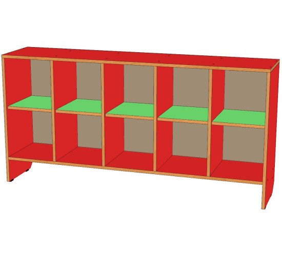 Шкаф для горшков 10 мест, горизонтальный