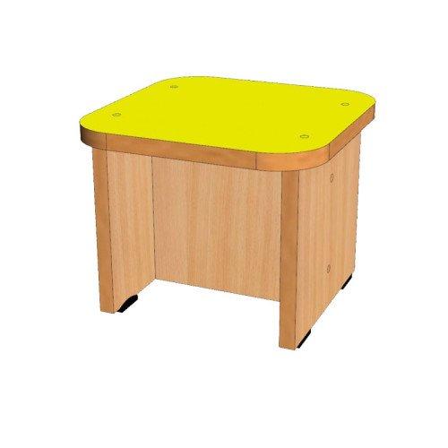 Банкетка для шкафа с нишей односекционного