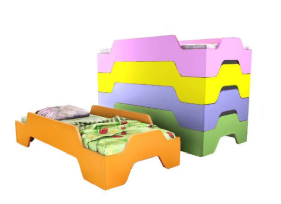 Кровать детская штабелируемая 3 1200x640