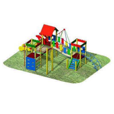 Детский спортивный комплекс с брусьями А-09-040