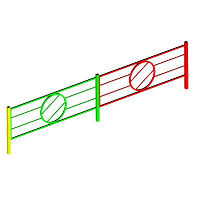 Ограждение игровой зоны металлическое (секции заборчика)