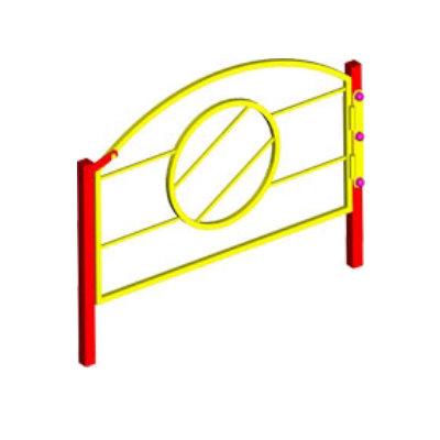 Ограждение игровой зоны металлическое (калитка)