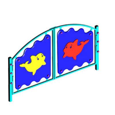 Ограждение игровой зоны «ПОДВОДНЫЙ МИР» (ворота)